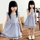 夏日《藍色雙結款》連身小洋裝...