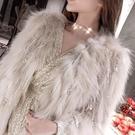 小禮服 2020夏冬新款洋氣編織真狐貍毛皮草外套女貉子毛中長款大衣