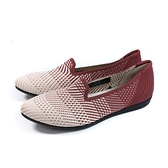 inooknit 懶人鞋 樂福鞋 尖頭 米/紅 漸層 編織 女鞋 IK-BJ1FW0408-077 no032