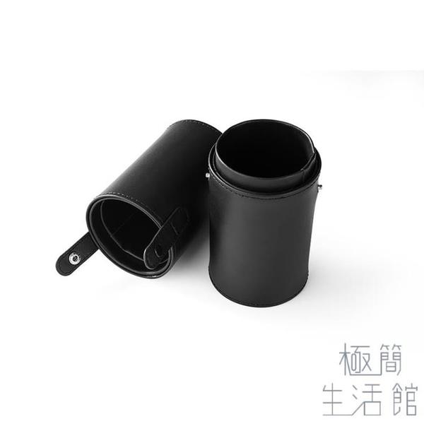 便攜化妝刷桶收納筒刷桶帶蓋刷子桶防塵【極簡生活】