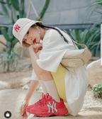KUMO SHOES-韓國代購🇰🇷MLB 腰包 滿版 NY 小logo 帽子 包包 gucci聯名款