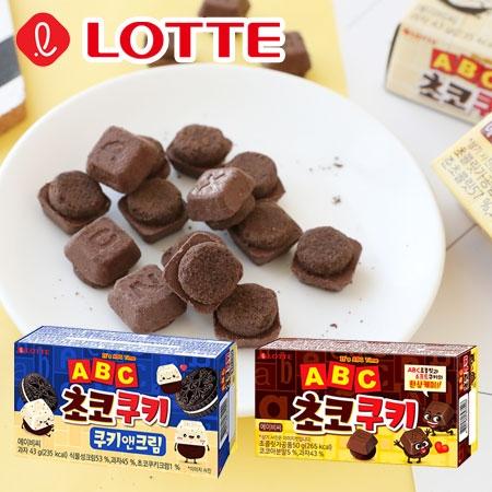 韓國 Lotte 樂天 ABC 字母餅乾 (小盒) 巧克力餅乾 香草可可餅 字母巧克力餅 學習餅乾 餅乾 零食