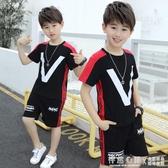 男童夏裝套裝2020新款童裝兒童中大童純棉韓版夏季男孩兩件套潮 蘿莉小腳丫