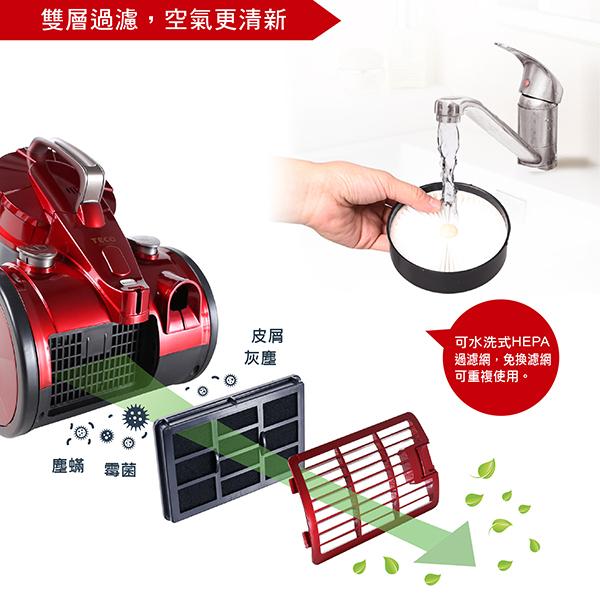 TECO東元 Mini旋風免紙袋吸塵器 XYFXJ501【福利品九成新】