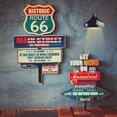 壁掛擺飾-美式復古66號公路居家掛飾擺件用品2款73a6[時尚巴黎]