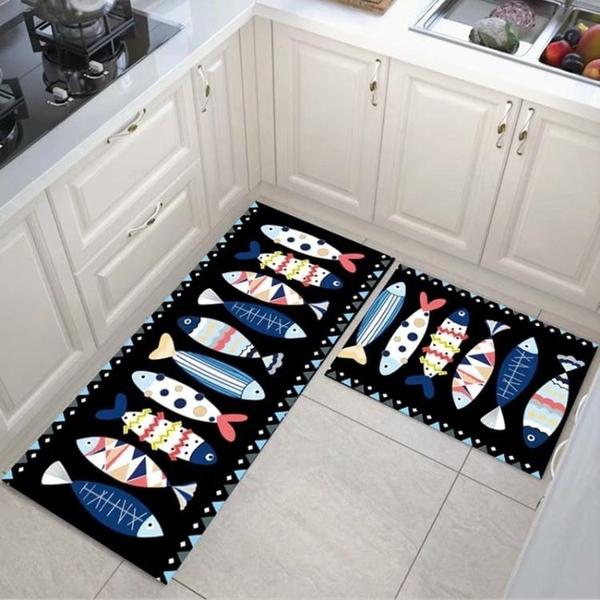 快速出貨 廚房地墊可擦免洗防油家用吸水臥室門墊衛浴廁所洗澡衛生間腳墊子