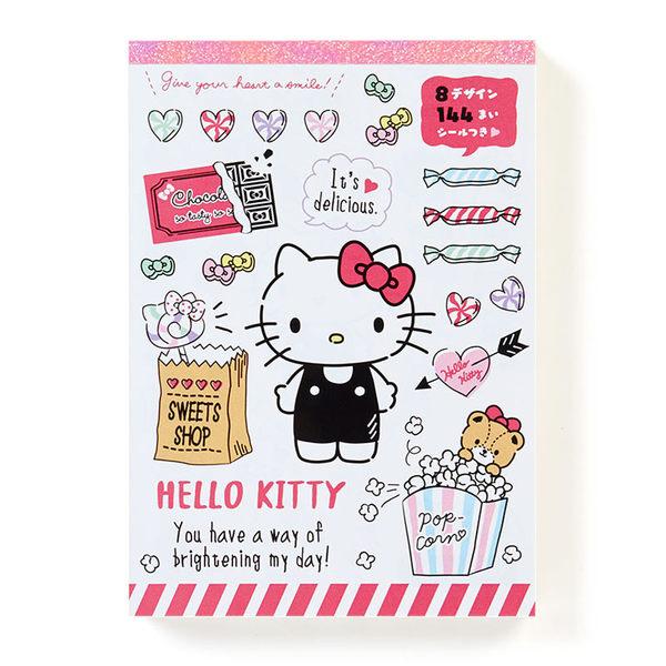 Sanrio HELLO KITTY A6超值便條本-俏皮糖果 共144枚★funbox★ 769142N
