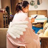 天使折疊抱枕被子兩用多功能個性可愛辦公室車用靠墊午睡枕毯女男☌zakka