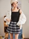 女背心 夏季吊帶背心女外穿上衣打底衫內搭西裝無袖針織小背心網紅白黑色【快速出貨八折特惠】