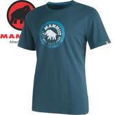 【MAMMUT 長毛象 男款 SEILE T-SHIRT 短袖T恤〈獵戶藍〉】1041-09210/短袖/短袖上衣/休閒T恤★滿額送