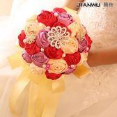 婚房裝飾結婚用品韓式新娘手捧花玫瑰花球