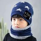 兒童帽 子秋冬季女男童潮毛線保暖冬天加絨...