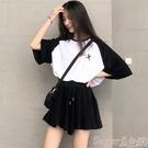 休閒套裝 時尚休閒減齡兩件套女夏季韓版寬...