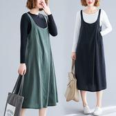 棉麻背心洋裝-中大尺碼 獨具衣格 J3065