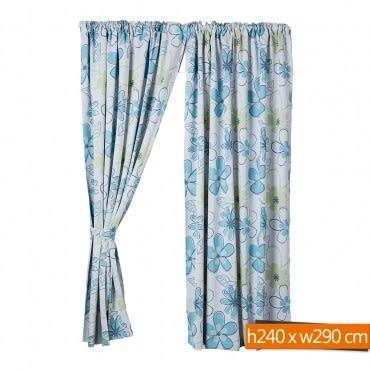 彩卉防蹣抗菌遮光窗簾 寬290x高240cm