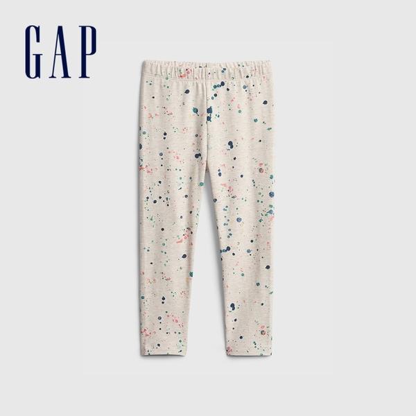 Gap女幼童 童趣印花鬆緊內搭褲 664107-油漆印染