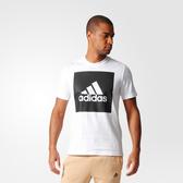 Adidas ESS Box Logo Tee [B47358] 男 圓領 短袖 運動 休閒 舒適 棉T 愛迪達 白