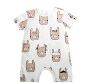ins北歐風夏季童裝嬰兒連身衣爬爬服潮男女寶寶純棉短袖洋氣哈衣 滿天星