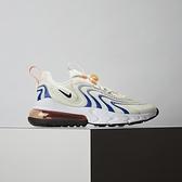 Nike Air Max 270 React ENG 女鞋 白藍 氣墊 舒適 避震 簡約 休閒鞋 CW8605-100