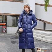 2020冬裝韓版pu羽絨棉服女中長款過膝修身顯瘦棉衣加厚外套潮HX2509【花貓女王】
