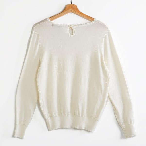 【MASTINA】胸前垂墜造型上衣-白/灰  秋裝限定嚴選