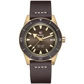 RADO 雷達 庫克船長青銅自動機械腕錶-42mm R32504306