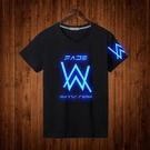 艾倫沃克DJ短袖純棉夜光T恤Alan Walker 同款Faded電音夏季男女潮 MKS霓裳細軟