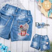(大童款-女)電繡閃亮棒棒糖冰淇淋牛仔熱褲短褲(270312)★水娃娃時尚童裝★