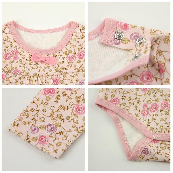 【愛的世界】純棉玫瑰長袖連身衣/6個月~2歲-台灣製- - ---幼服推薦