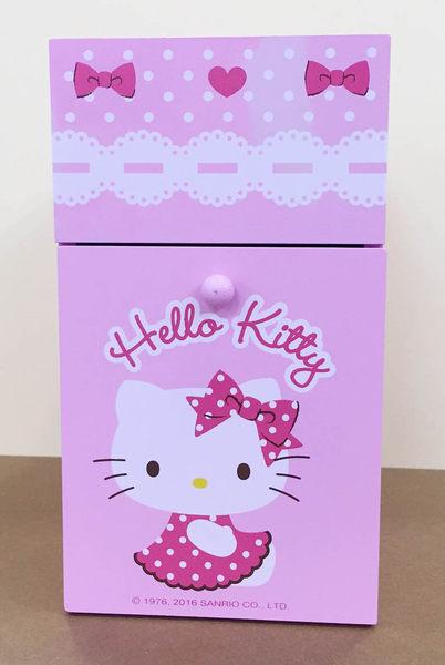 【震撼精品百貨】Hello Kitty 凱蒂貓-凱蒂貓雙層單抽收納櫃-粉色