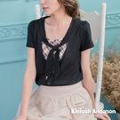 【Kinloch Anderson金安德森女裝】領帶配格布短袖假兩件上衣