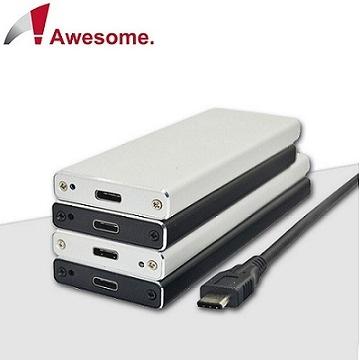 Awesome USB3.1 TO NGFF硬碟外接盒(銀)-AWE-SSDNG31H