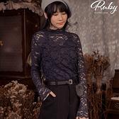上衣 立領蕾絲長袖上衣-Ruby s 露比午茶