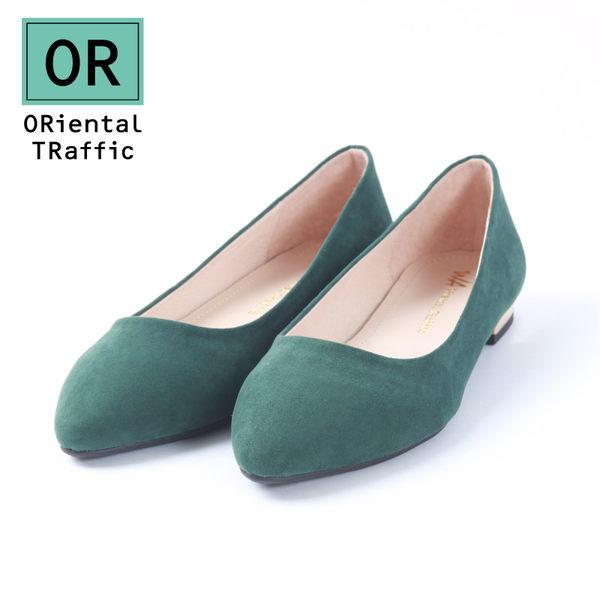 簡約百搭尖楦平底鞋_個性綠(7702_GR)