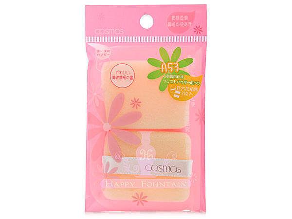 COSMOS 長方型粉餅專用粉撲~附保存袋 *3包/組