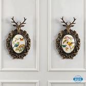 壁飾美式墻飾鹿頭壁飾麋鹿招財掛件飾品 歐式創意背景墻客廳墻壁裝飾wy 全館限時88折