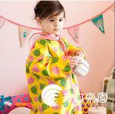 韓國可愛小熊兒童環保雨衣 男女童雨披 寶寶幼兒書包位學生-奇幻樂園
