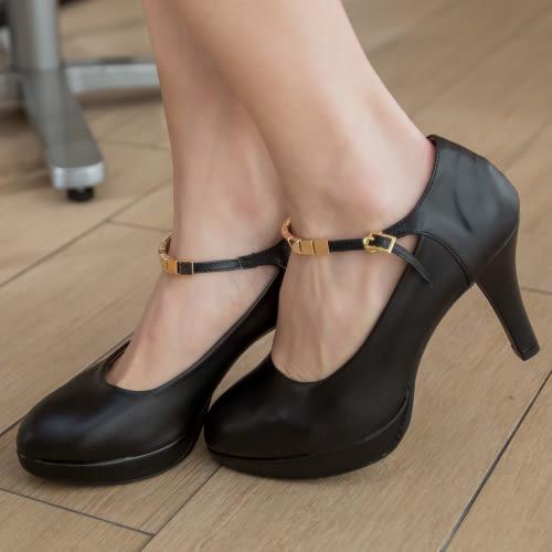 高跟鞋.MIT氣質瑪莉珍一字釦高跟鞋.白鳥麗子