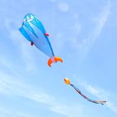 大鯨魚造型風箏(軟式風箏)(全配/附150米輪盤線)【888便利購】