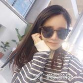 韓國潮流方框偏光墨鏡男女時尚個性豹紋貓眼圓臉開車駕駛太陽眼鏡 樂芙美鞋