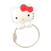 小禮堂 Hello Kitty 磁吸式鑰匙圈 吊飾 掛飾 吸鐵 鑰匙收納 (紅白 大臉) 4991567-26699