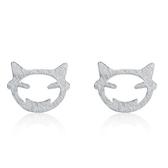 925純銀耳環(耳針式)-可愛獨特生日情人節禮物女飾品73al20【巴黎精品】