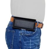 耐用手機掛腰包 穿皮帶橫款男士跨腰間袋老人夾扣褲腰帶殼通用皮套
