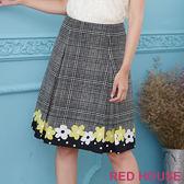 RED HOUSE-蕾赫斯-格紋花朵印花裙(共2色)