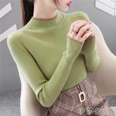 打底衫 半高領毛衣打底衫女2020年秋冬裝新款長袖內搭洋氣針織衫百搭上衣