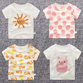 男小童女童夏季女寶寶嬰兒上衣短袖t恤