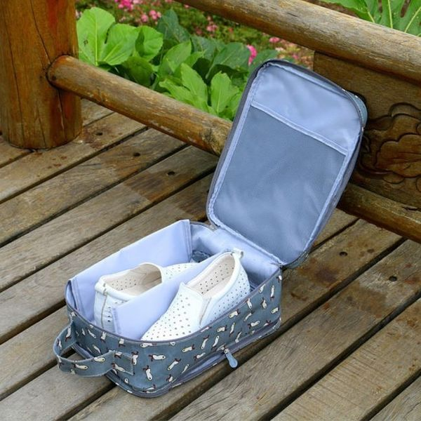 《J 精選》防潑水多功能旅行手提收納鞋袋(可收3雙鞋)