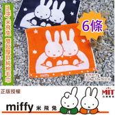正版授權*miffy米飛兔提花純棉毛巾 (6條 小資組)【㊣台灣嚴選毛巾 】