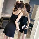 洋裝夜場吊帶裙女夏 性感小黑裙氣質顯瘦連身裙子夜店女裝露背禮服 法布蕾輕時尚