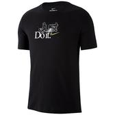 Nike 男圖案圓領上衣(黑色)